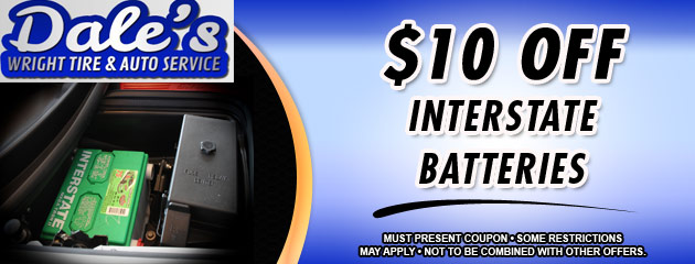 $10 off Interstate Battery