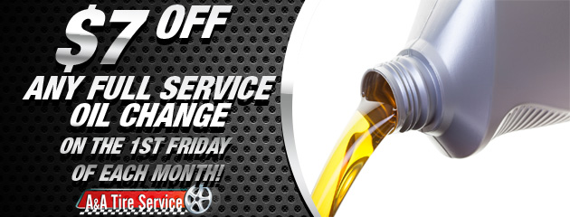 $7 off Oil Change 1st Friday
