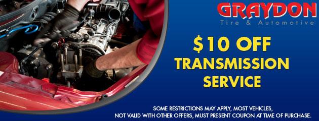 $10 off transmission service