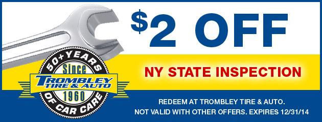 $2 Off NY Inspection