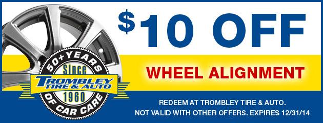 $10 Off Wheel Alignment