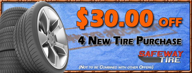 $30.00 Off 4 New Tire Purchase