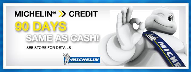 Michelin 90 Days same as cash
