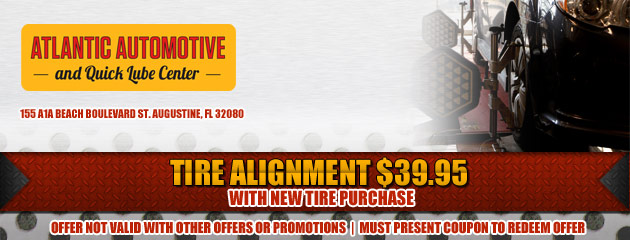 Alignment with new tire purchase special