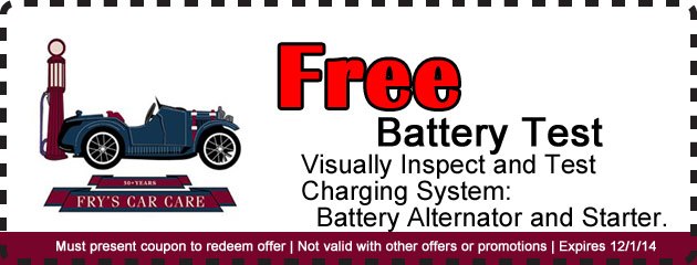 Free Battery Test