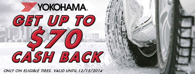 Yokohama up to $70 Rebate Canada