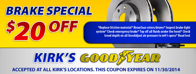 $20 Off Brake Special