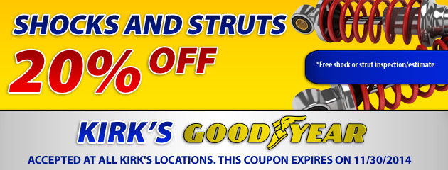 20% Off Shocks and Struts