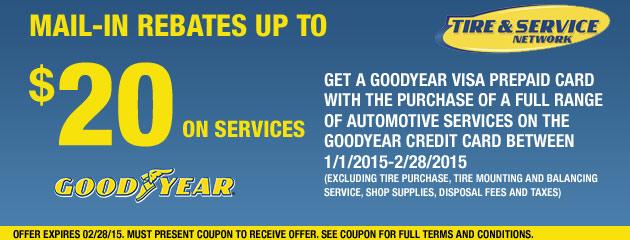 Goodyear TSN up to $20 Rebate
