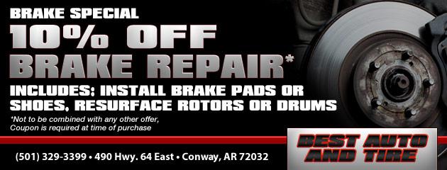 Brake Special: 10% off Brake Repair