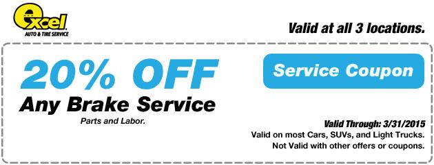 20% Off Brake Service