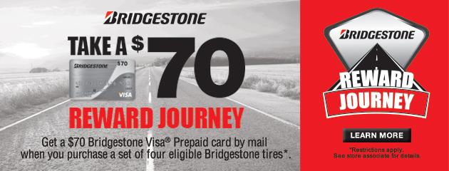 Bridgestone $70 Reward Journey