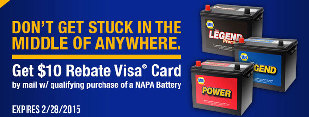 Napa $10 off Batteries