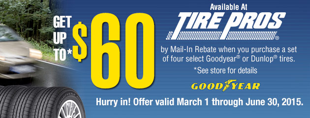 Goodyear up to $60 Rebate TP
