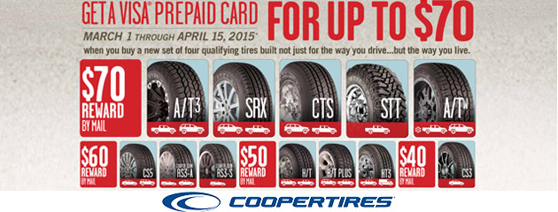 Cooper up to $70 Rebate