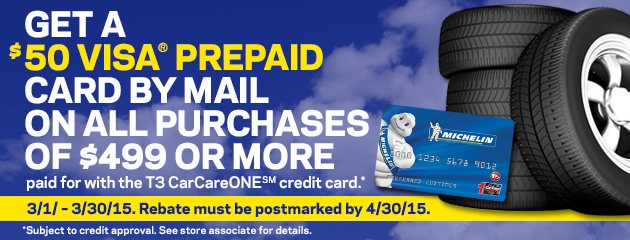 T3 CareCareOne CC $50 Rebate