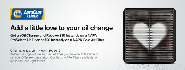 Napa Air Filter Promotion