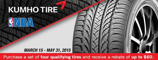 Kumho up to $60 Rebate Canada