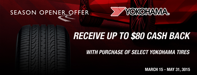 Yokohama up to $80 Rebate Canada