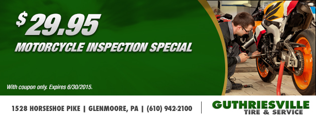 $29.95 Motorcycle Inspection Special