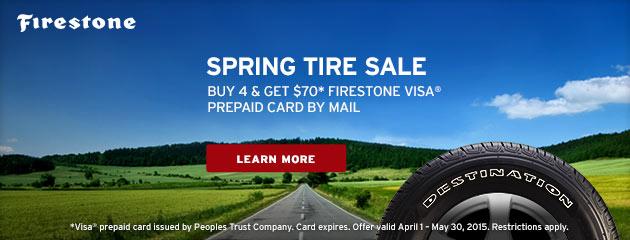 Firestone $70 Rebate Canada