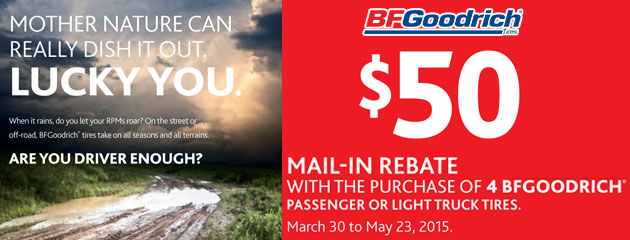 BFGoodrich $50 Rebate Canada