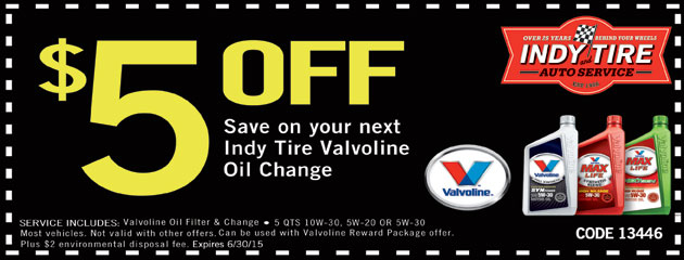 $5 off Next Oil Change