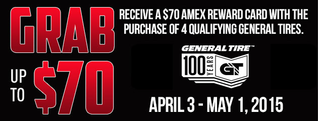 General up to $70 Rebate