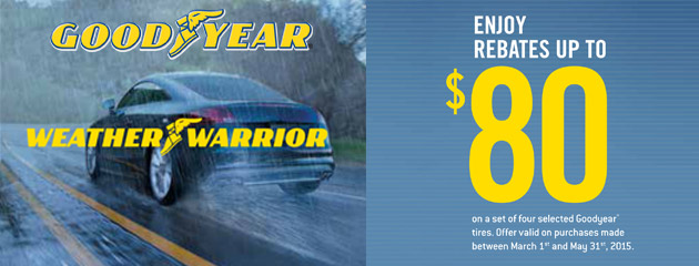 Goodyear-Dunlop up to $80 Rebate Canada