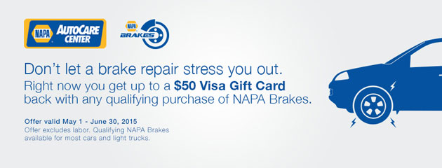 Napa Sales Driver $50 Rebate on Brakes