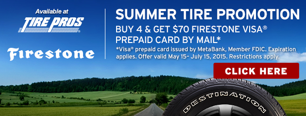 Firestone $70 Reward Tire Pros