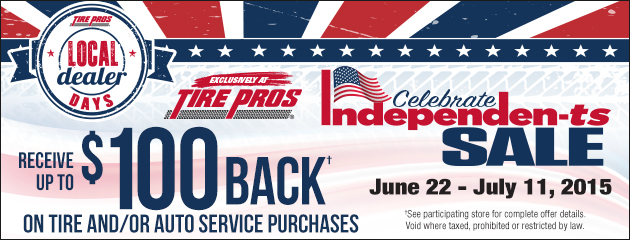 Tire Pros Dealer Days Special