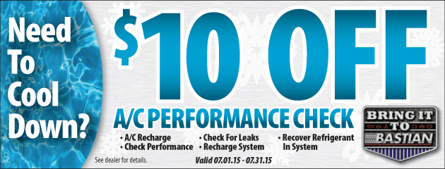 $10 off A/C Performance Check