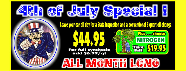 4th of July Special All Month Long