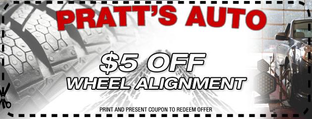 $5 Off Wheel Alignment