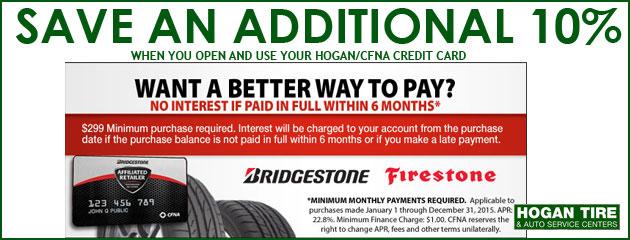 Want a better way to pay? Bridgestone Firestone CFNA