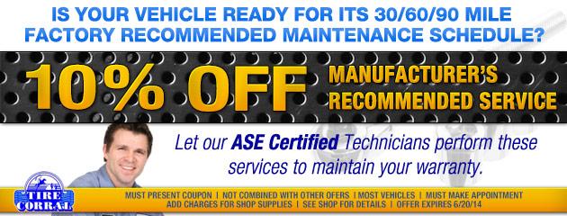 10 Percent Off Maintenance