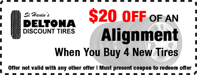 $20 OFF of an Alignment with 4 New Tires