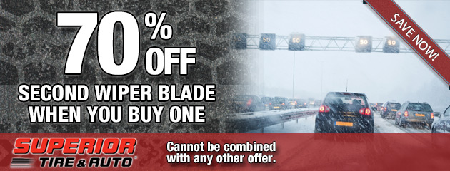 70 Percent Off Second Wiper Blade