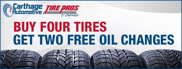 Buy 4 Tires, Get 2 Oil Changes