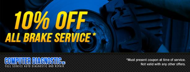 10% off All Brake Service