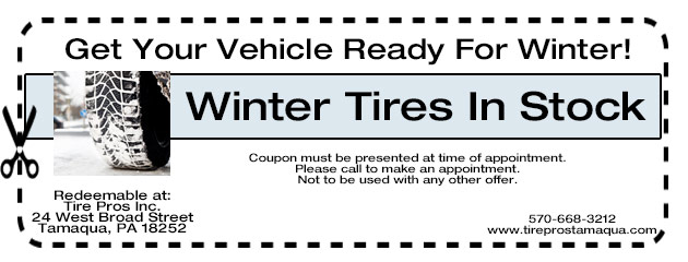 Get Your Vehicle ready for Winter.  Winter Tires in Stock