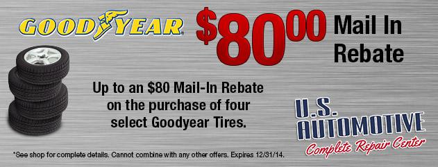 $80 Goodyear Mail In Rebate