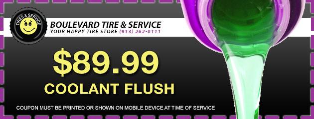$89.99 Coolant Flush