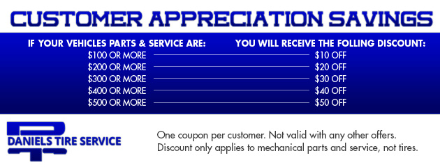 Customer Appreciation Savings