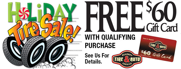 Holiday Tire Sale - Free $60 Gift Card With Qualifying Purchase