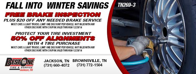 Fall Brake & Alignment Inspection