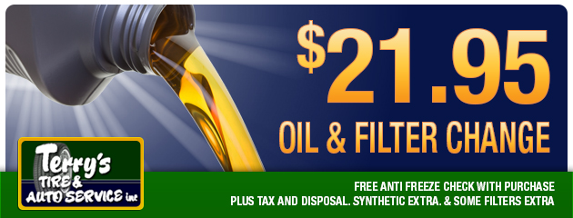 Oil and filter change - $21.95