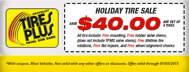 Holiday Tire Sale