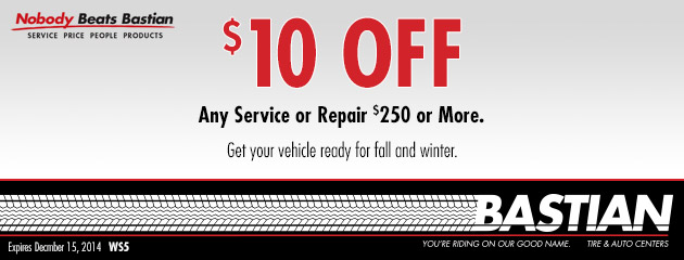 $10 Off Any Service Of $250 Or More